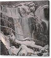 Winter Waterfalls Canvas Print