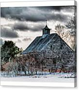 Wintering Barn Canvas Print