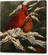 Winters Cardinals Rule Canvas Print
