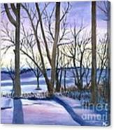 Winter's Eve Canvas Print