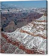Winter's Touch At The Grand Canyon Canvas Print