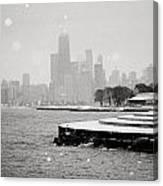 Wintery Chicago Canvas Print