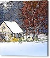 Winther In The Wood Canvas Print