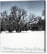 Wishing You A Very Merry Christmas Canvas Print