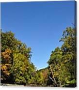 Wissahickon Blue Skies Canvas Print