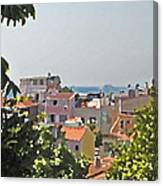 With A Seaview Canvas Print