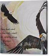 ...with Wings As Eagles Canvas Print
