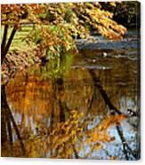 Wolcott River Reflections Canvas Print