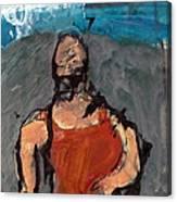 Woman In Landscape 1 Canvas Print