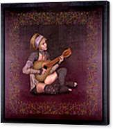 Woman Playing The Lyre Canvas Print