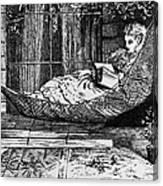 Woman Reading, C1873 Canvas Print
