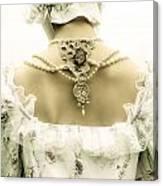 Woman With Bonnet Canvas Print