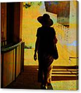 Woman With Hat Canvas Print