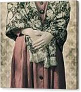 Woman With Shawl Canvas Print
