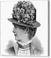 Womans Hat, 1883 Canvas Print