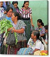 Women At The Chichicastenango Market Canvas Print
