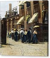 Women Leaving Work, 1895 Canvas Print