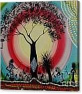 Women Under The Wisdom Tree Canvas Print