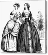 Womens Fashion, 1851 Canvas Print