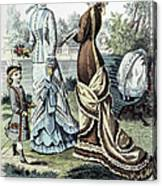 Womens Fashion, 1877 Canvas Print