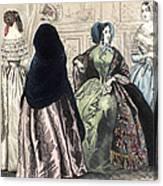 Womens Fashion, C1850 Canvas Print