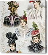 Womens Hat Designs For April, 1897 Canvas Print