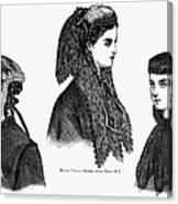Womens Hats, 1868 Canvas Print