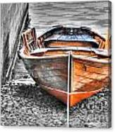 Wood Boat Canvas Print
