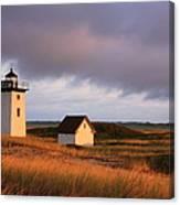 Wood End Lighthouse Landscape Canvas Print