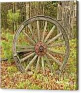 Wood Spoked Wheel Canvas Print