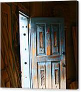 Wood Workers Door In Truchas New Mexico Canvas Print