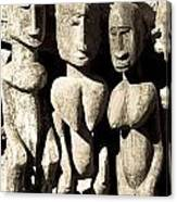 Wooden African Figures Canvas Print