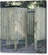 Wooden Beach Dressing Rooms Canvas Print