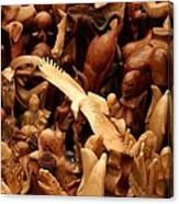 Wooden Crowd Canvas Print