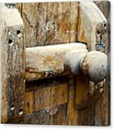 Wooden Door Bolt Detail Canvas Print