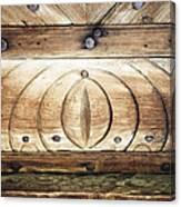 Wooden Doors Detail Canvas Print