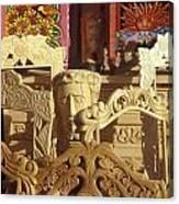 Wooden Furniture Tzintzuntzan Mexico Canvas Print