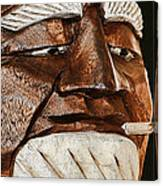 Wooden Head With Cigarette Canvas Print