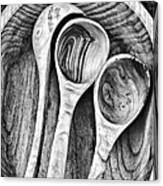 Wooden Ladles Canvas Print