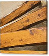 Wooden Polished Steps Canvas Print