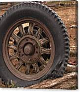 Wooden Spoked Tire Canvas Print