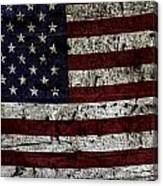 Wooden Textured Usa Flag2 Canvas Print
