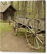 Wooden Wagon Canvas Print