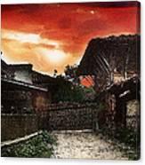 Woodern Village Canvas Print