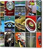 Woodie Car Collage Canvas Print