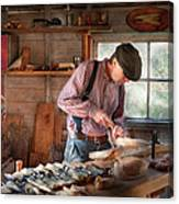 Woodworker - Carving - Carving A Duck Canvas Print