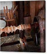 Woodworker - Lathe - Rough Cut Canvas Print