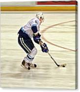 Working The Puck Canvas Print