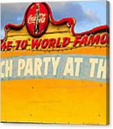 World Famous Party Canvas Print
