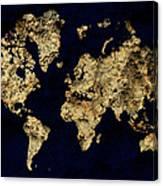 World Map Rock Canvas Print